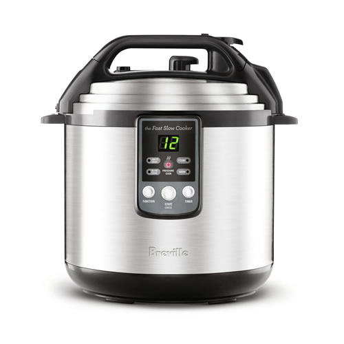 Breville Fast 6 Litre Slow Cooker Brushed Stainless Steel