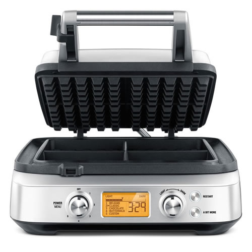 Breville Smart Waffle 4 Slice Waffle Maker Stainless Steel