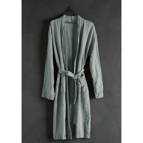 Bathrobe Linen Azure