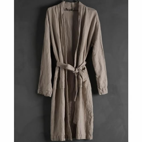 Bathrobe Linen Natural