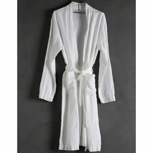 Bathrobe Linen White