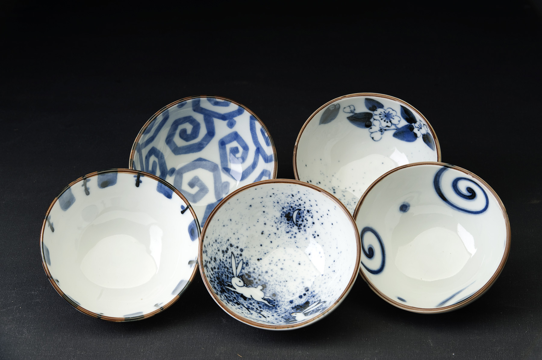 Somekoubou Set of 5 Bowls