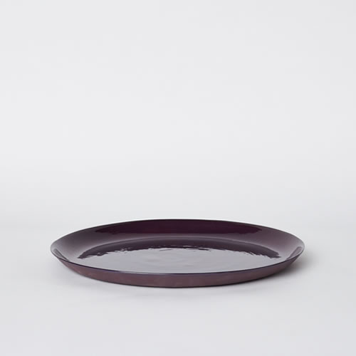 Small Cheese Platter in Plum