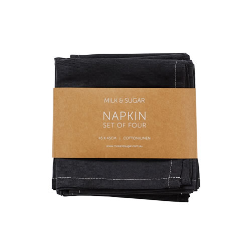 Charcoal Cotton Linen Napkin Set