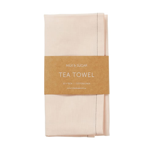 Blush Cotton Linen Tea Towel