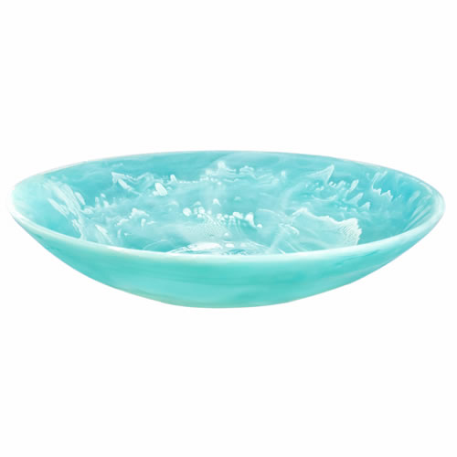 Everyday Resin Bowl Large Aqua Swirl