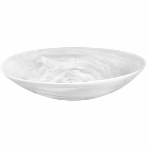 Everyday Resin Bowl Large White Swirl