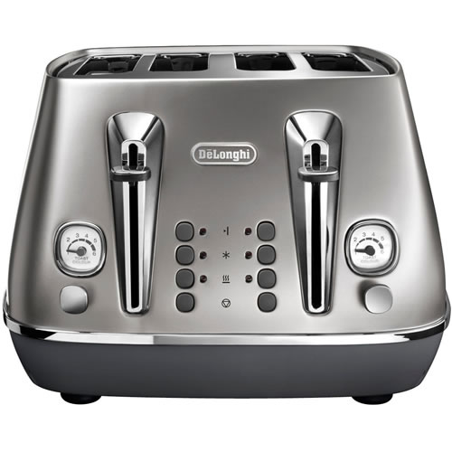 Delonghi Distinta Flair 4 Slice Toaster Silver