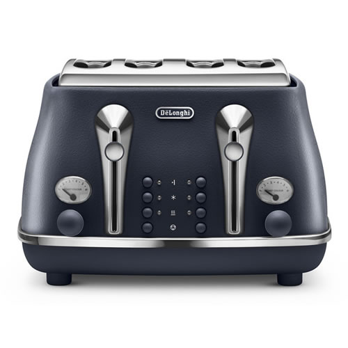 Delonghi Icona Elements 4 Slice Toaster Ocean Blue