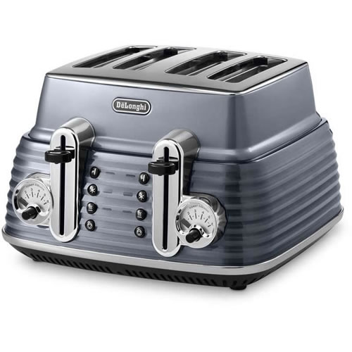 DeLonghi Scultura Toaster Steel Grey in Four Slice