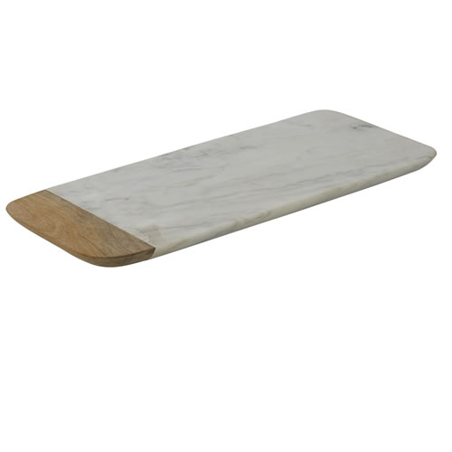 Marble and Mango Wood Rectangular Board