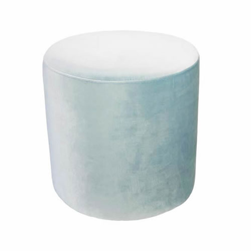 Darcy & Duke Velvet Ottoman Small Ice Blue