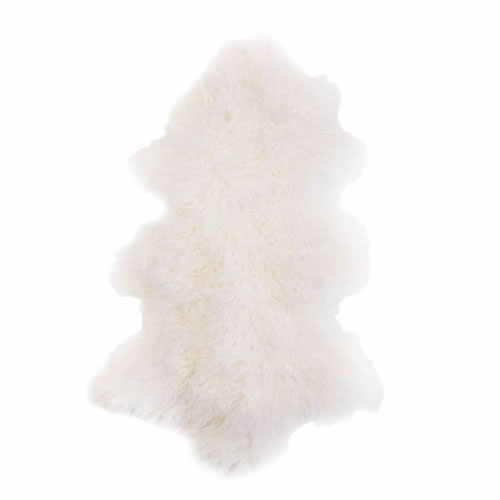 Fur Throw in White
