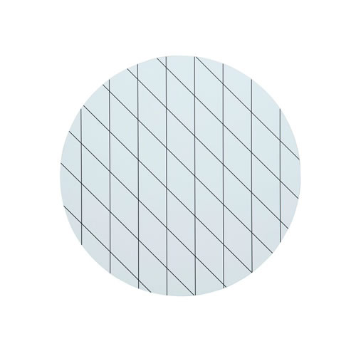 Diagonal White Round Placemat