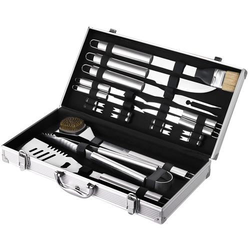 18pce BBQ Tool Set with Aluminium Case