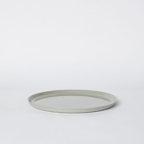 Scoop Dinner Plate in Ash