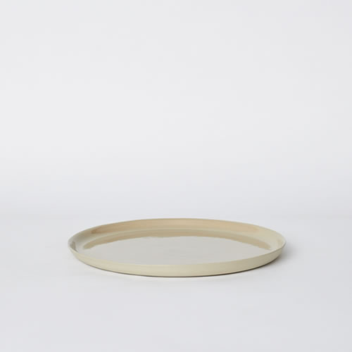 Scoop Dinner Plate in Sand