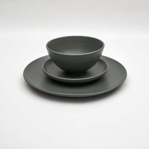 Bison Dinner Set in Stormcloud