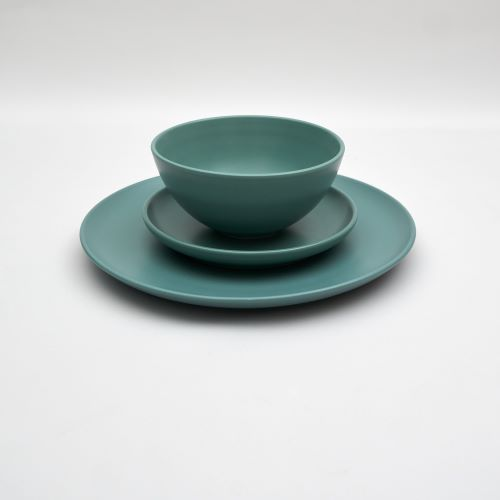 Bison Dinner Set in Teal