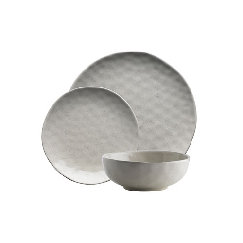 Ecology Speckle 12pc Dinner Set Oatmeal