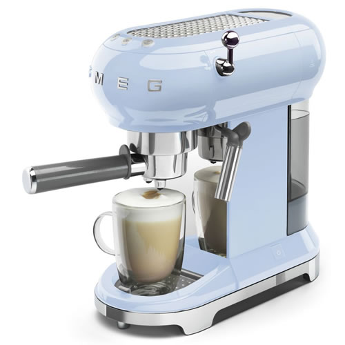 Smeg 50's Style Espresso Coffee Machine Pastel Blue