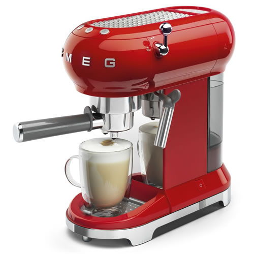 Smeg 50's Style Espresso Coffee Machine Red