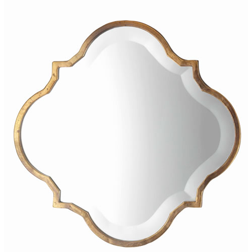 Souk Mirror in Antique Gold