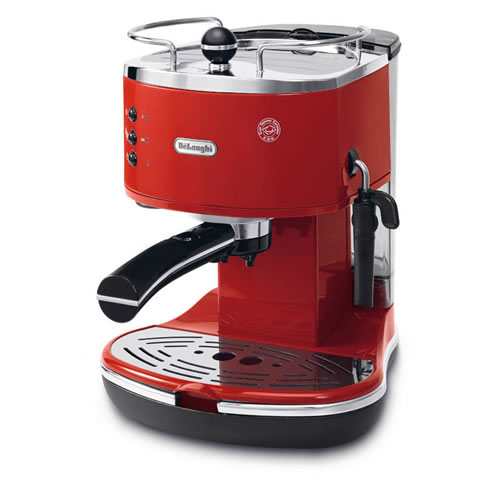 Icona Classic Coffee Machine in Red