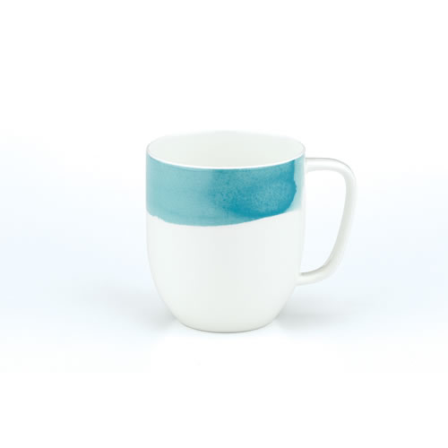 Ecology Seasons Water Colour Aqua Bone China Mug