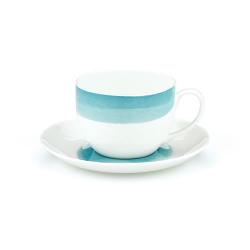 Ecology Seasons Water Colour Aqua Bone China Teacup and Saucer