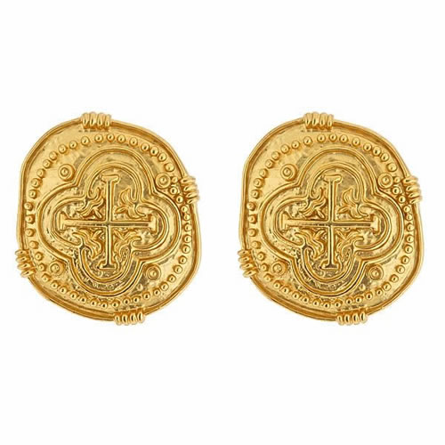 Coin Earrings in Gold