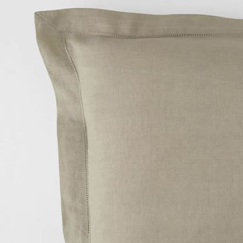 Embroidered Euro Pillowcase Natural