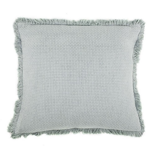 Chelsea Cushion with Fringe Sea Mist 50x50cm