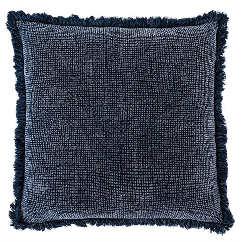 Chelsea Cushion with Fringe Navy 50x50cm
