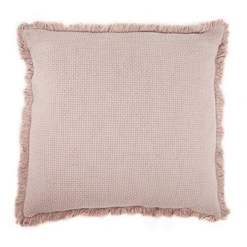 Chelsea Cushion with Fringe Musk 50x50cm
