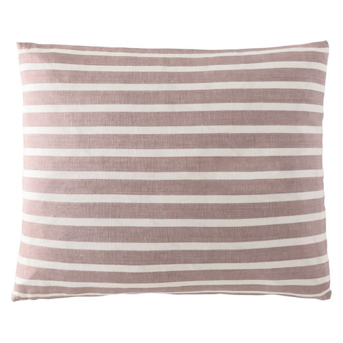 Coitier Cushion Linen Cotton Blend 50x60cm in Musk White Stripe