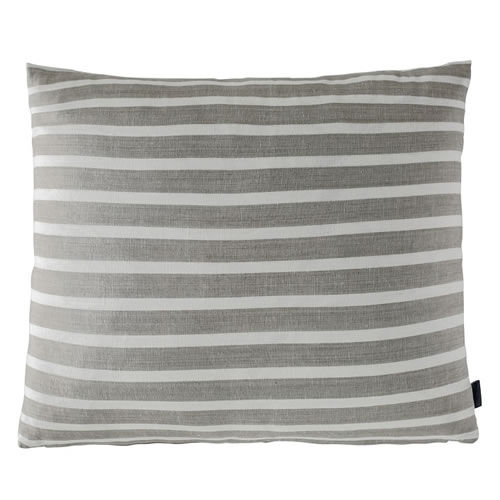 Coitier Cushion Linen Cotton Blend 50x60cm in Natural White Stripe