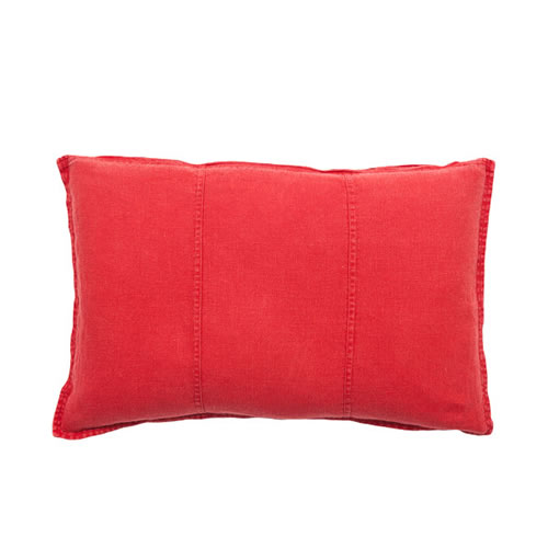 Red Luca Cushion Linen 40x60cm
