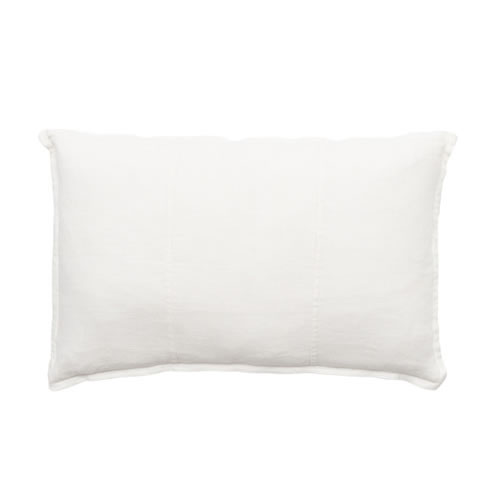 White Luca Cushion Linen 40x60cm