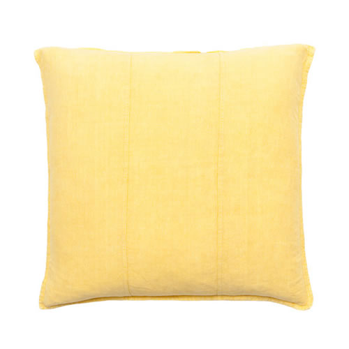Yellow Luca Cushion Linen 50x50cm