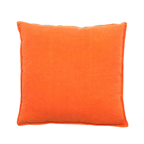 Orange Luca Cushion Linen 60x60cm