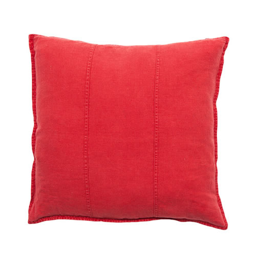 Red Luca Cushion Linen 60x60cm