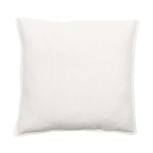 White Luca Cushion Linen 60x60cm