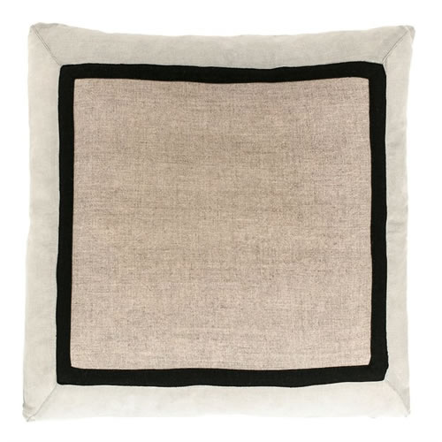 Villa Cushion 100% Linen Natural Silver Grey 50x50cm