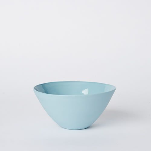 Medium Flared Bowl in Duck Egg