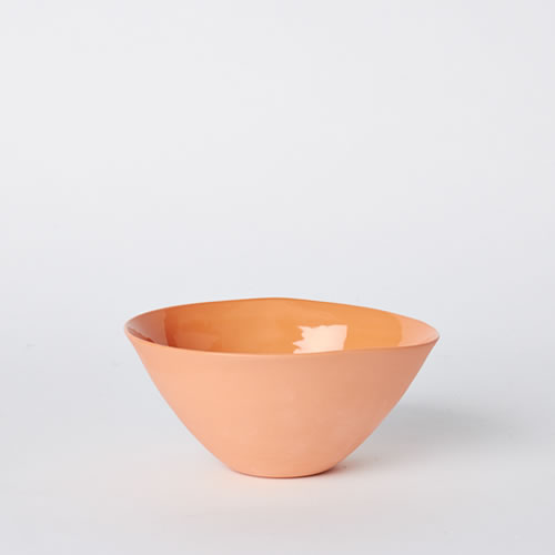 Medium Flared Bowl in Orange