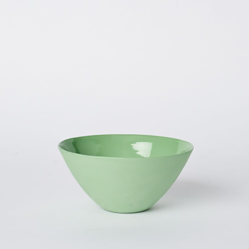 Medium Flared Bowl in Wasabi