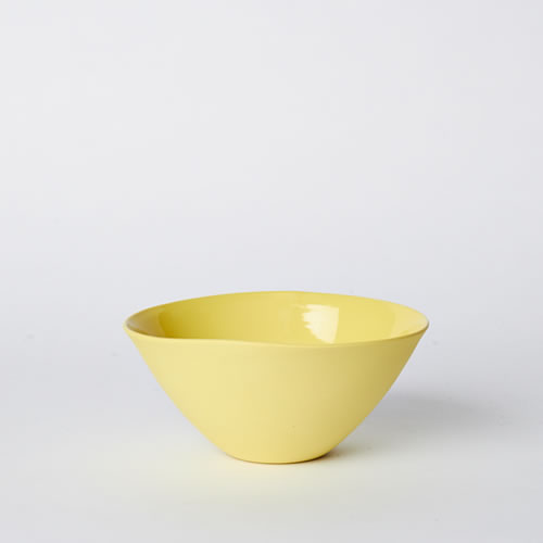 Medium Flared Bowl in Yellow