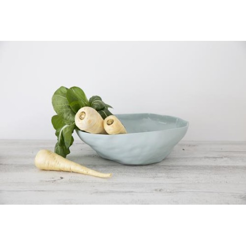 Flax Fruit Bowl 35cm Duck Egg