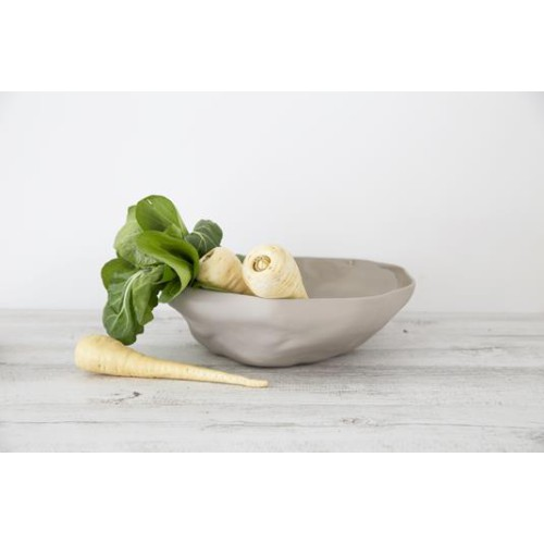 Flax Fruit Bowl 35cm in Grey